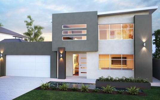 desain rumah 2 lantai minimalis terbaru