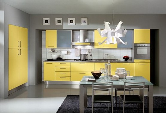 contoh model warna cat dapur minimalis modern 555 378 si
