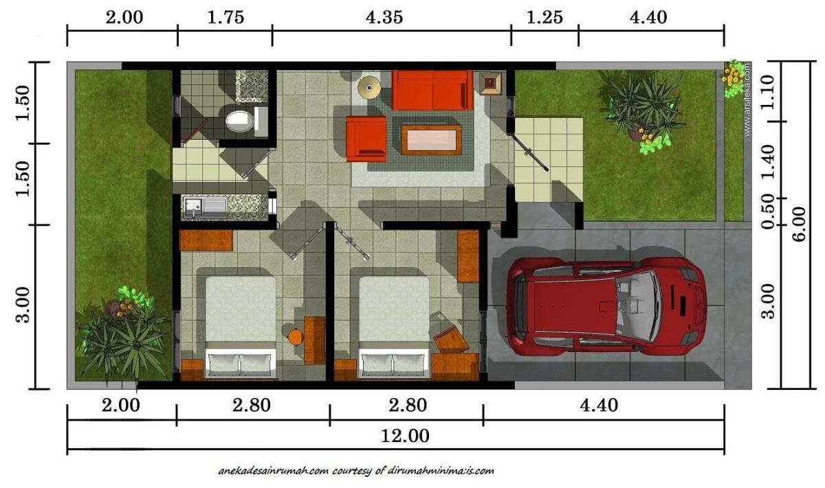 gambar denah rumah minimalis 2 lantai si momot