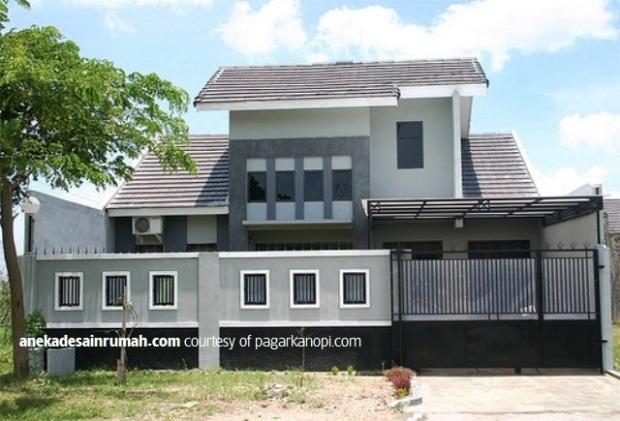 desain kanopi baja ringan teras rumah transparan minimalis (3)