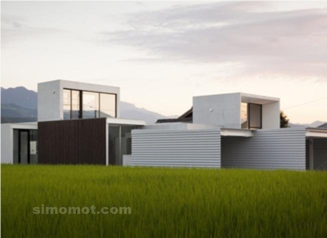 foto desain eksterior rumah minimalis modern ke 286 si