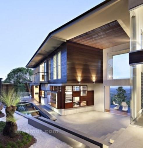 foto desain eksterior rumah minimalis modern