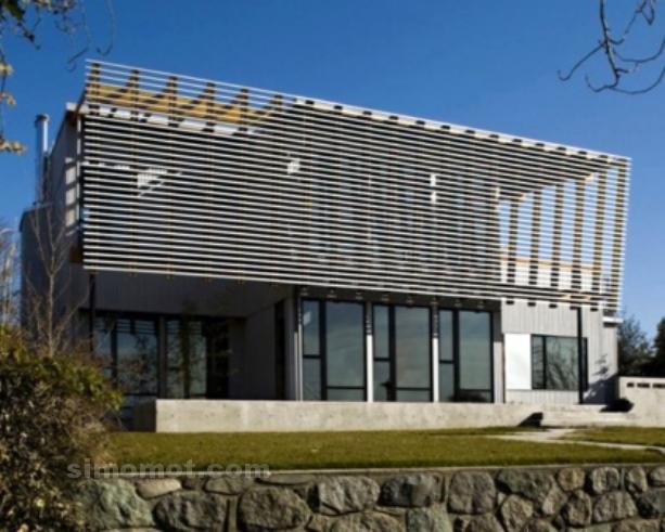 foto desain eksterior rumah minimalis modern ke 63 si
