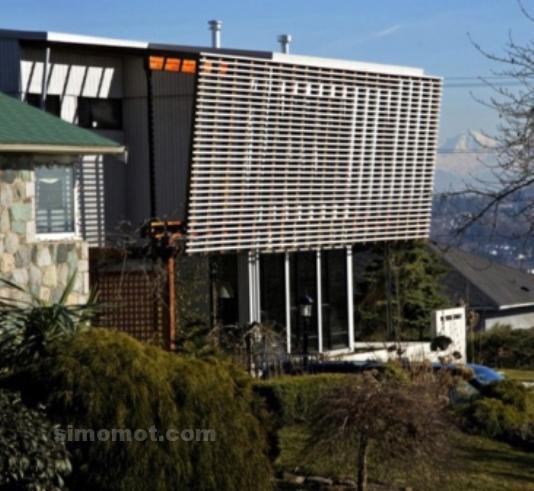 foto desain eksterior rumah minimalis modern ke 64 si
