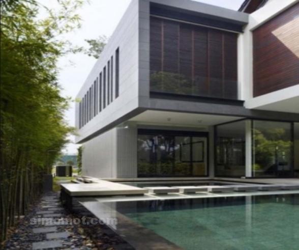 foto desain eksterior rumah minimalis modern ke 9 si momot