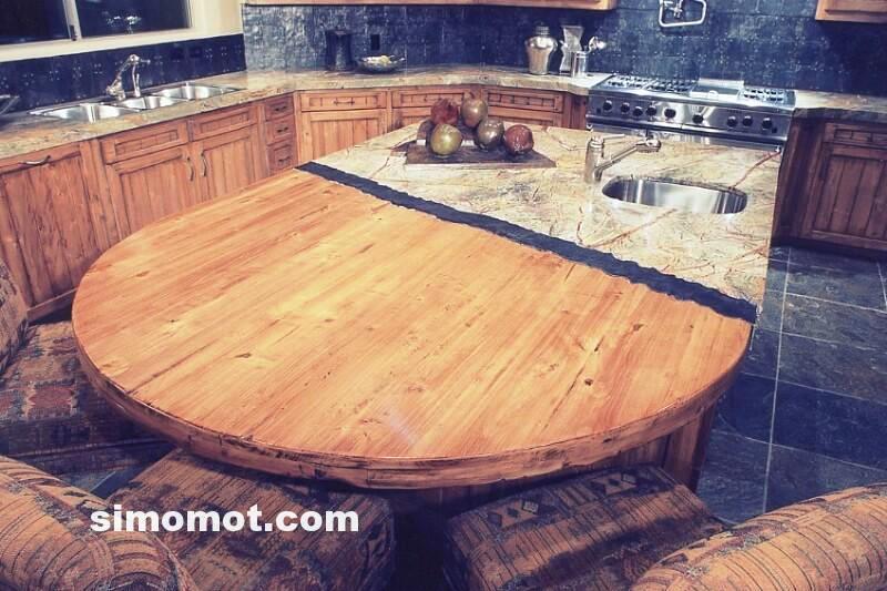foto desain interior dapur kayu mewah 106 si momot