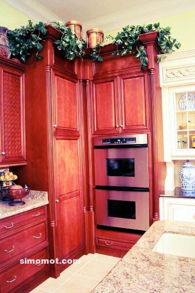 foto desain interior dapur kayu mewah 131 si momot