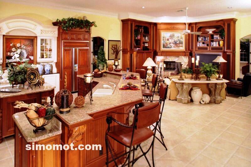 foto desain interior dapur kayu mewah 134 si momot