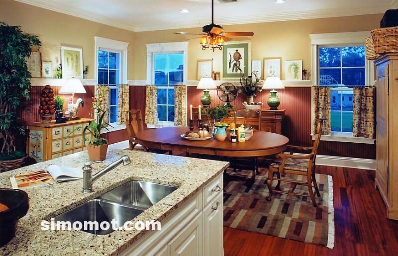 foto desain interior dapur kayu mewah 154 si momot