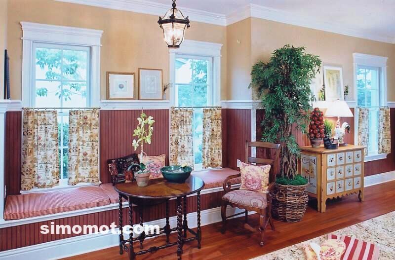 foto desain interior dapur kayu mewah 159 si momot