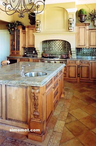 foto desain interior dapur kayu mewah 19 si momot