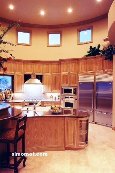 foto desain interior dapur kayu mewah 216 si momot