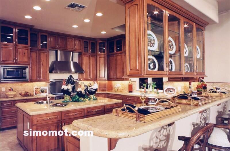 foto desain interior dapur kayu mewah 222 si momot