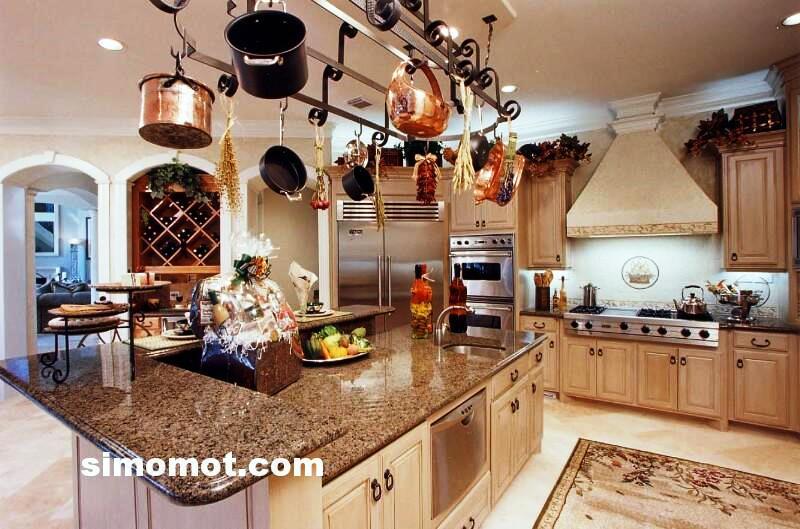 foto desain interior dapur kayu mewah 259 si momot