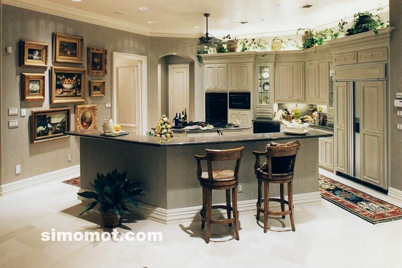 foto desain interior dapur kayu mewah 272 si momot
