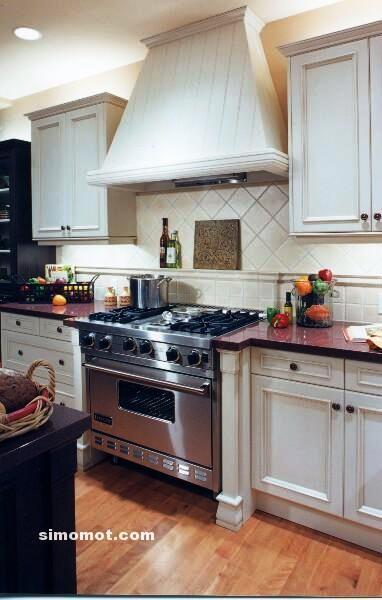 foto desain interior dapur kayu mewah 295 si momot