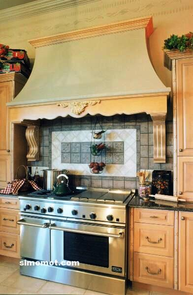 foto desain interior dapur kayu mewah 298 si momot