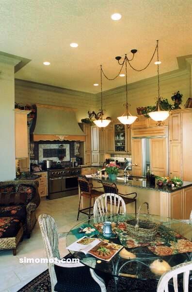 foto desain interior dapur kayu mewah 301 si momot