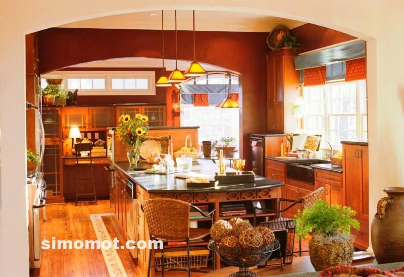 foto desain interior dapur kayu mewah 325 si momot