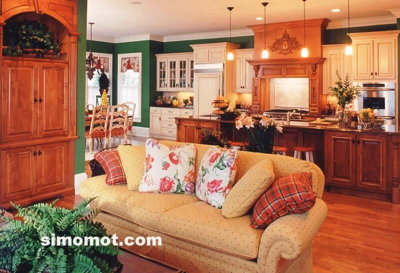 foto desain interior dapur kayu mewah 335 si momot