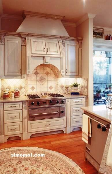 foto desain interior dapur kayu mewah 340 si momot