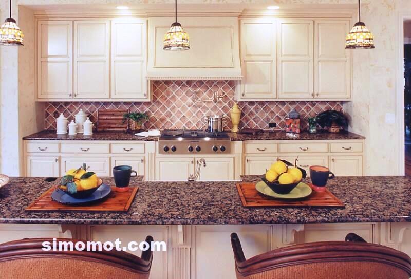 foto desain interior dapur kayu mewah 346 si momot