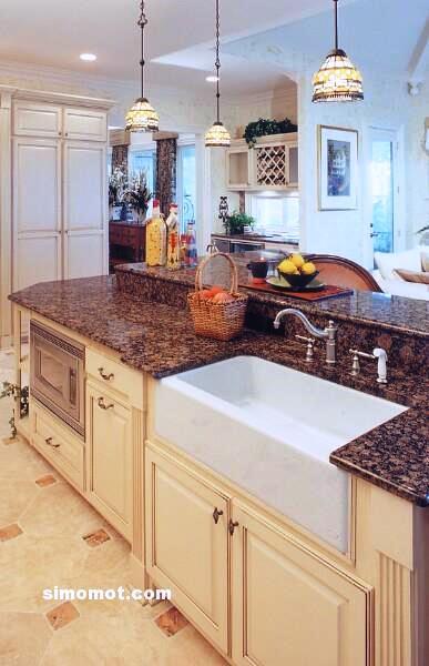 foto desain interior dapur kayu mewah 348 si momot