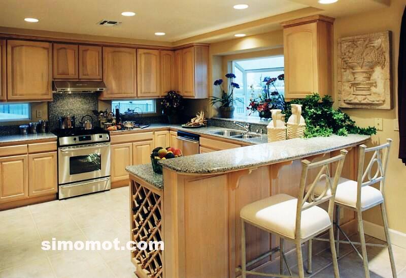 foto desain interior dapur kayu mewah 78 si momot