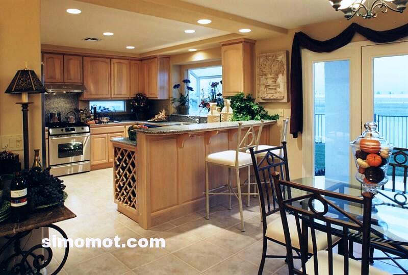 foto desain interior dapur kayu mewah 79 si momot