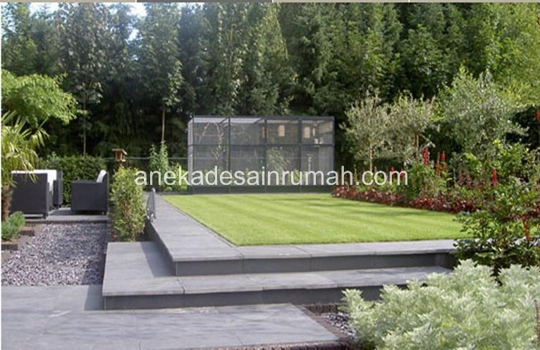 foto desain taman rumah minimalis tanpa air