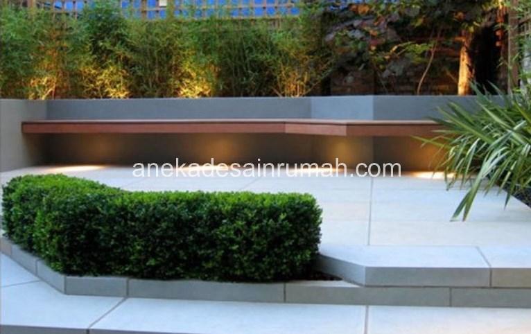 foto desain taman rumah minimalis tanpa air 195 si momot