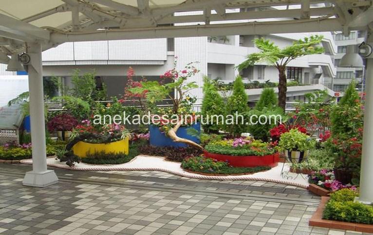 foto desain taman rumah minimalis tanpa air 26 si momot