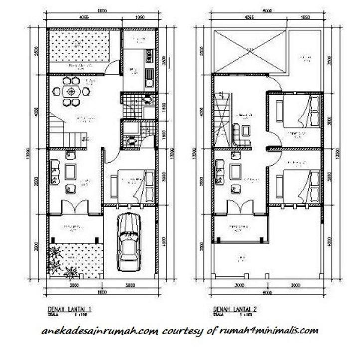 gambar denah pengembangan rumah 2 lantai minimalis 3