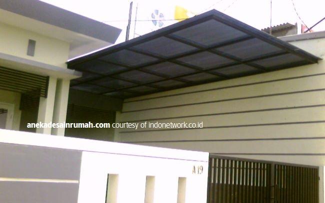 gambar desain kanopi kaca dan polycarbonate transparan