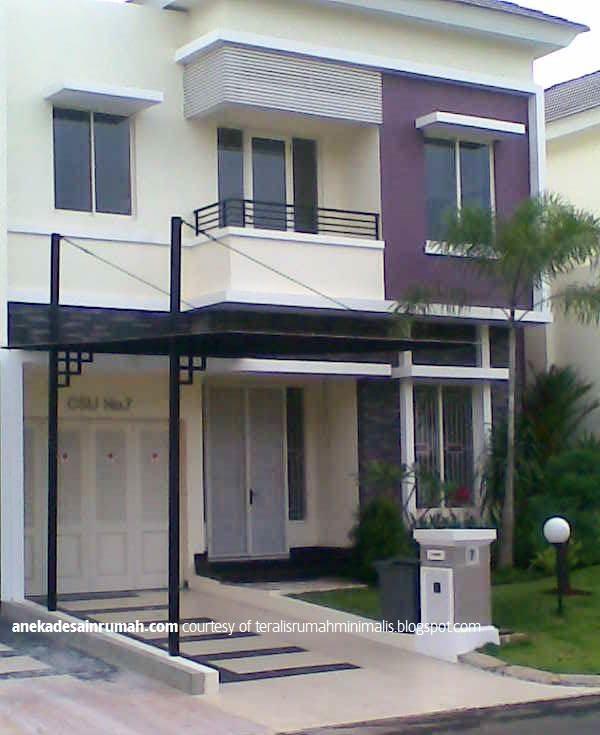 gambar desain kanopi kaca rumah  minimalis modern 5 SI