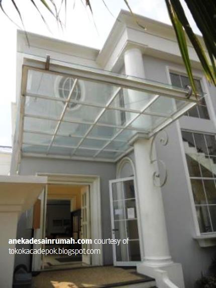 gambar desain kanopi kaca rumah  minimalis modern 7  Si