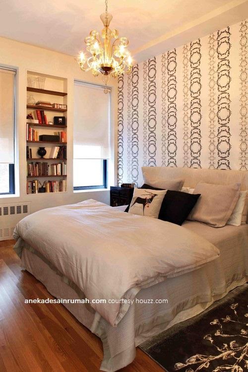 Gambar desain wallpaper dinding kamar tidur minimalis modern – Laman