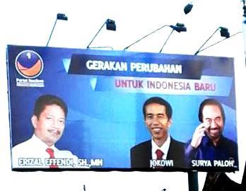 Ini dia foto Caleg Nasdem yang tempel wajah Jokowi di baliho kampanye