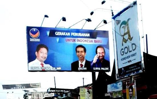 Foto Jokowi di baliho Caleg Nasdem