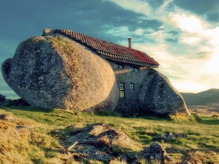 Rumah batu di portugal