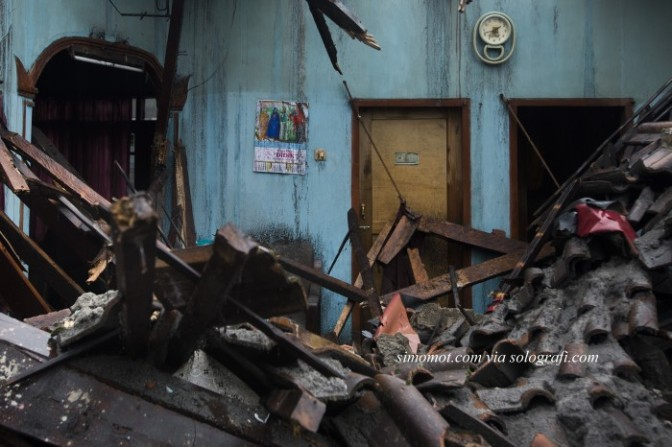 Foto-foto kerusakan paling parah akibat bencana meletusnya Gunung Kelud 2014