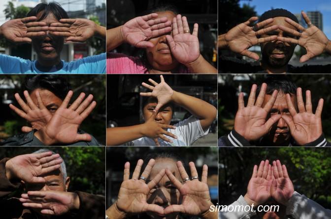 %name Foto aksi Golput di tengah pelaksanaan Pemilu Legislatif 2014