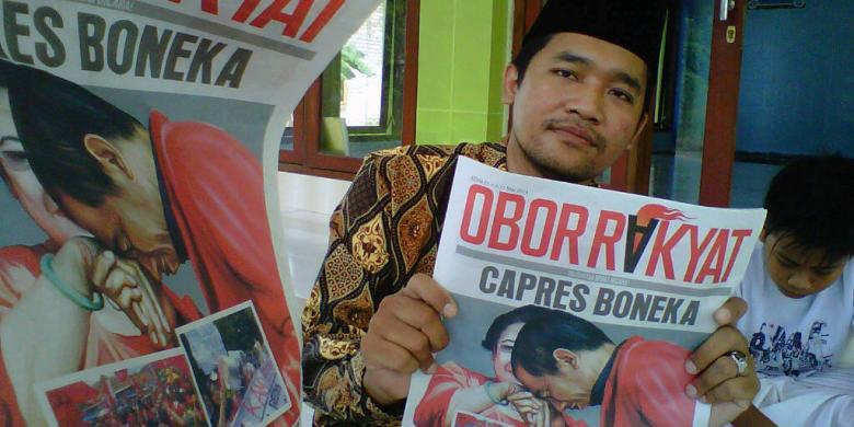 Koran Obor Rakyat berisi tentang pembusukan Capres Jokowi banyak disebar di masjid-masjid di Kabupaten Pamekasan.