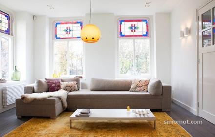 Pemanfaatan kulit domba menambah cantik desain interior ruang keluarga