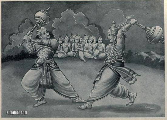 Bima melawan Duryodana