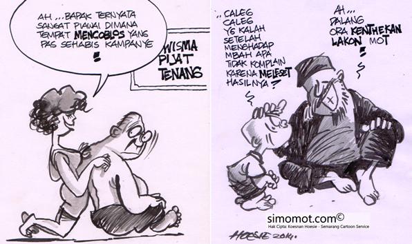 karikatur kampanye pilpres dan caleg kartun si momot si