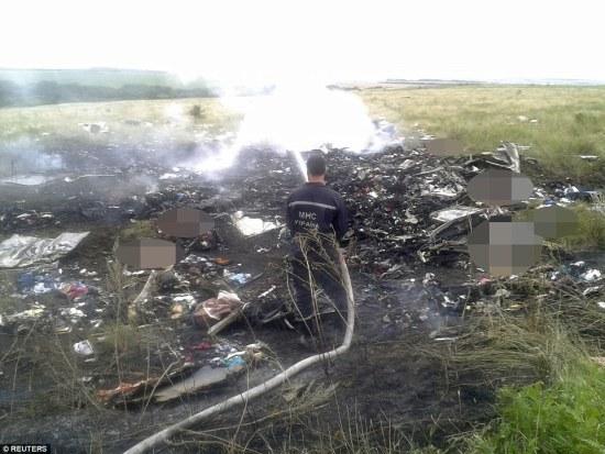 Foto-foto terbaru jatuhnya pesawat Malaysia Airlines MH 17