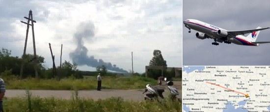 Pesawat malaysia Airline dengan 295 penumpang jatuh dan terbakar