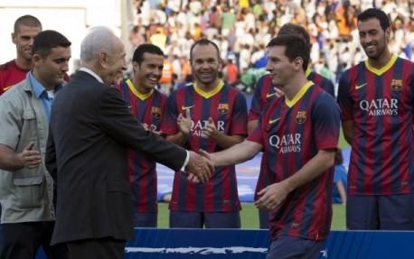 Saat Messi main di Israel