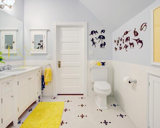 Tips desain interior kamar mandi anak  SI MOMOT